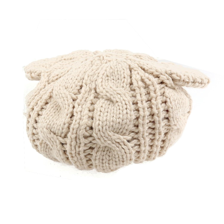 Fenical Winter Knit Beanie Hut Häkeln Geflochten Katze Ohren Hut