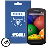 Motorola Moto E 1st Generation (2014) Screen Protector Pack, Super Clear by Minotaur (6 Screen Protectors)