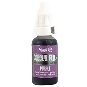 PURPLE Rainbow Dust Colour Flo Concentrated Liquid Food Air Brush Colouring 16ml