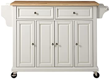 Amazon Com Crosley Furniture Rolling Kitchen Island With Natural