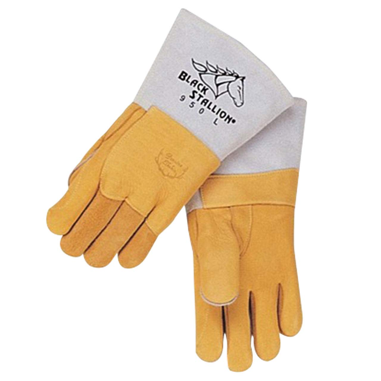 Black Stallion 950L Premium Lined Elkskin Stick Welding Gloves, Large by Black Stallion (Image #1)