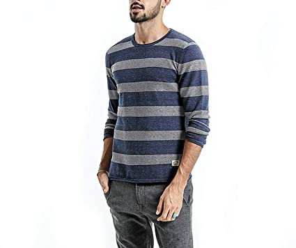 4e19d881eae AMAZING AMAZING Sweater Men 2019 Spring New Slim Fit Striped Knitted  Sweaters Male Plus Size Pullovers at Amazon Men s Clothing store