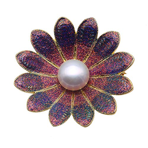 - JYX Pearl Exquisite Floral Brooch 11mm Freshwater Cultured Pearl Brooch Pin for Women