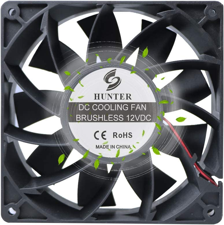 High Airflow 140mm x 38mm DC Powerful Fan 12V 230CFM Cooling for Mining Machine 5.5Inch 14038