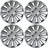 15 inch ford van hubcaps - Hub-Caps for Select Nissan Ford (Pack of 4) 15 Inch Silver Wheel Covers