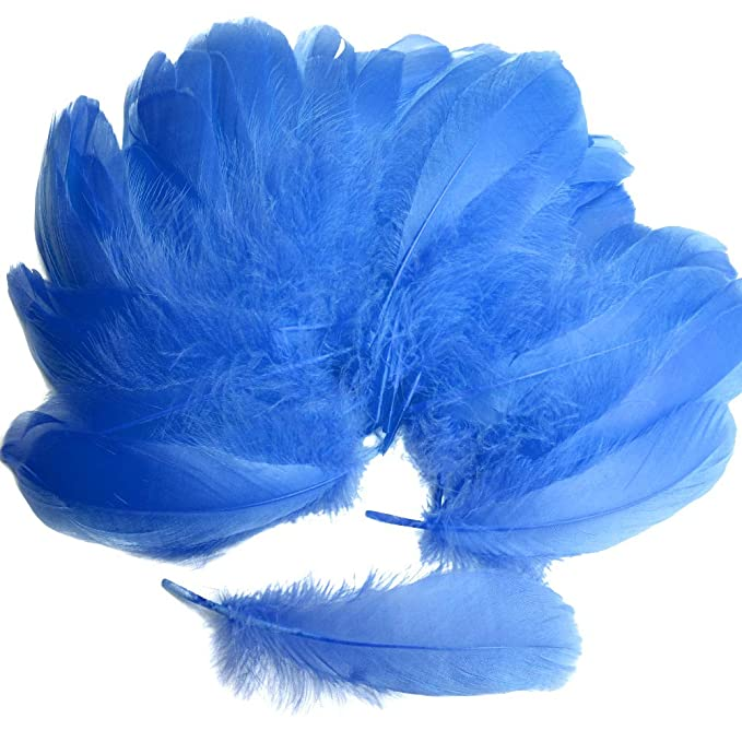 20cm Aqua Blue Easter Bonnet Arts /& Crafts Natural Dyed Feathers 10 Pack