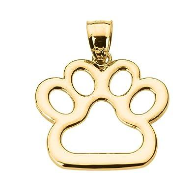 Amazon polished 14k gold dog paw print charm pendant jewelry polished 14k gold dog paw print charm pendant aloadofball Gallery