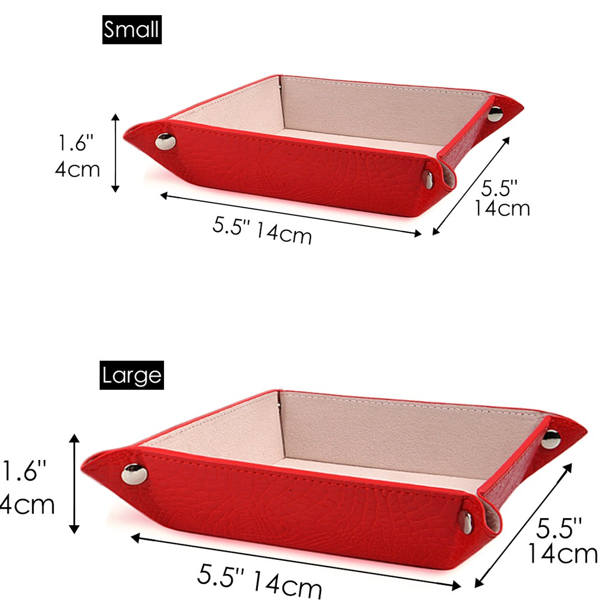 1-Coffee C101-keydish HappyDavid Leather Bedside Storage Tray