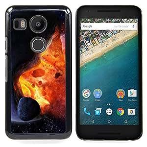 """Qstar Arte & diseño plástico duro Fundas Cover Cubre Hard Case Cover para LG GOOGLE NEXUS 5X H790 (Asteroide Exploding Estrella Sun Fire Universo Arte"""")"""