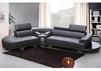 Amazon.com: 1PerfectChoice Contemporary Curved Sectional Sofa ...