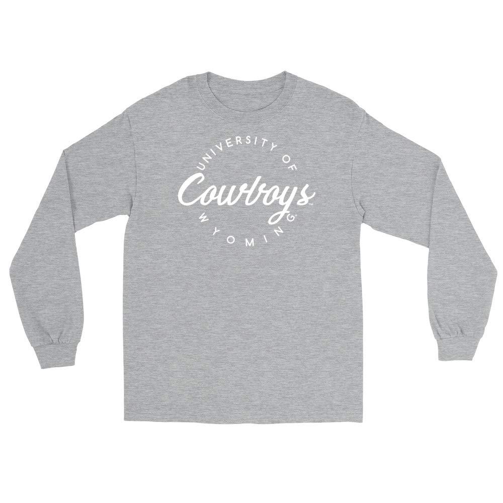 RYLWY04 Mens//Womens Boyfriend Long Sleeve Tee Official NCAA University of Wyoming Cowboys