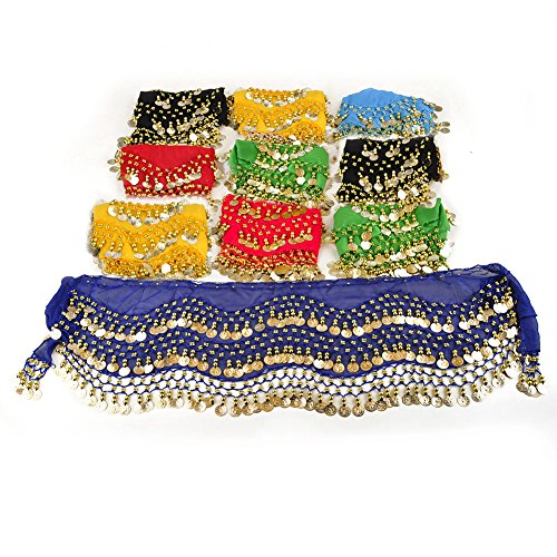 (BellyLady Belly Dance Hip Scarves, Wholesale Lots 10pcs Dance Skirts, Gift)