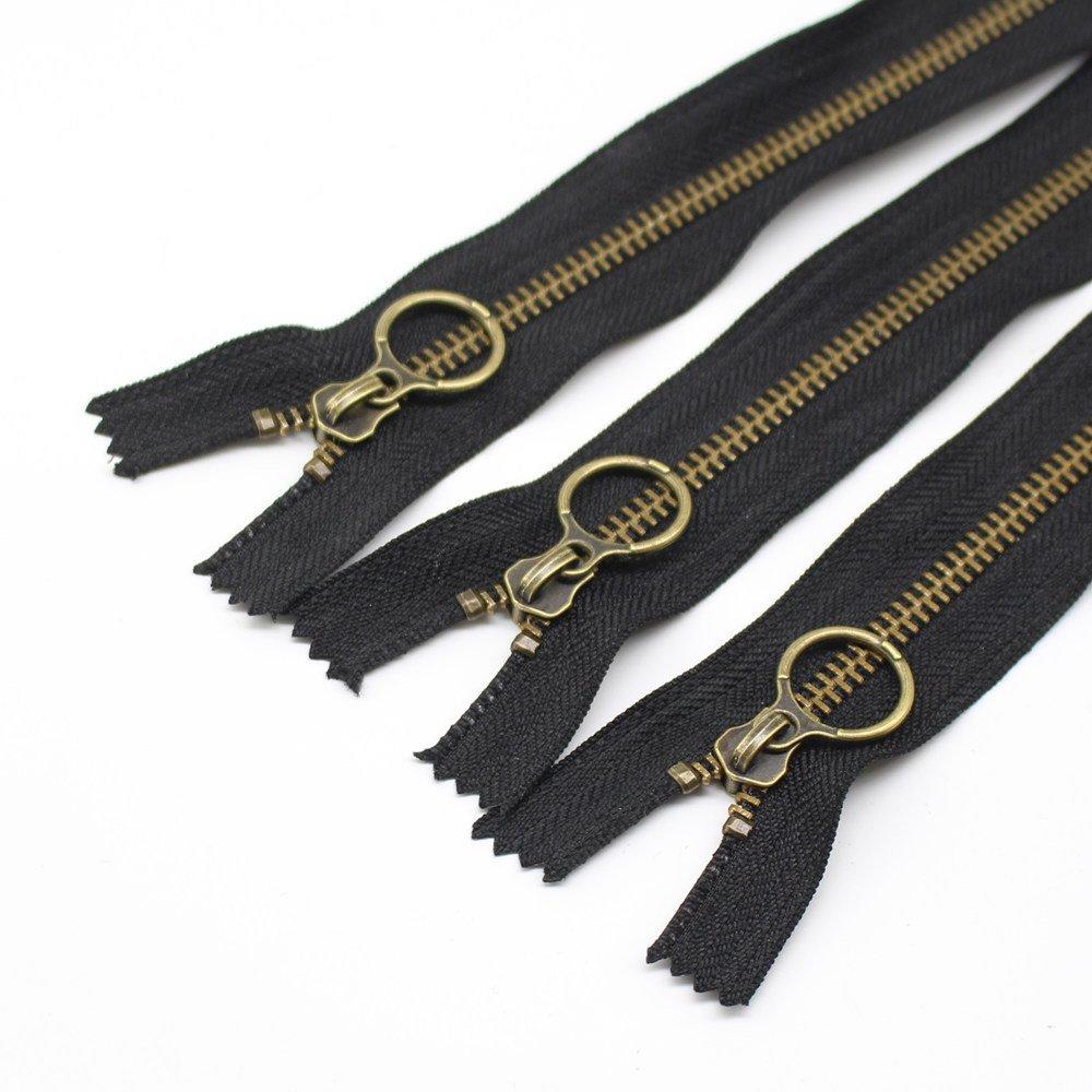 YaHoGa 10 pezzi 23 cm cerniere lampo metallo Bronzo # 5 Chiusure lampo Closed End cerniere per fai da te cucito artigianale borse porta abiti