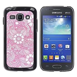 iKiki Tech / Estuche rígido - Wallpaper Pink White Pattern Spring - Samsung Galaxy Ace 3 GT-S7270 GT-S7275 GT-S7272