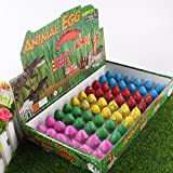 Novelty Magic Hatching 60 Pcs Dinosaur Growing Eggs Growing in Water Toys For Kids ,Mini Dinosaur Eggs(Random Color)