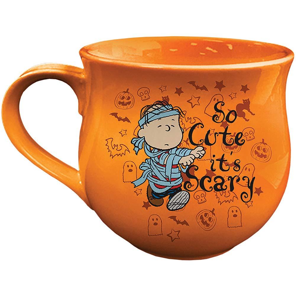 PEANUTS Halloween Cauldron Mug - Double Image Ceramic Snoopy Woodstock Linus