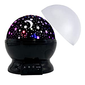 Star Night Light for Kids, Rotating Stars Light Projector for Bedroom Decor Party Favor Toys for 3 4 5 6 7 8 Year Old Boys Girls, 3-12 Year Old Girl Boy Birthday Christmas Xmas Gifts Presents-Black