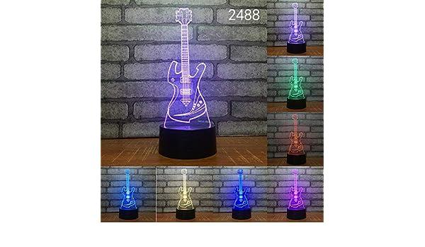 BFMBCHDJ Guitarra Arpa Música Decoración Gif Novedad 3D Luz de ...