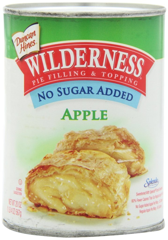 Wilderness No Sugar Added Pie Filling & Topping, Apple, 20 Ounce (Pack of 12)