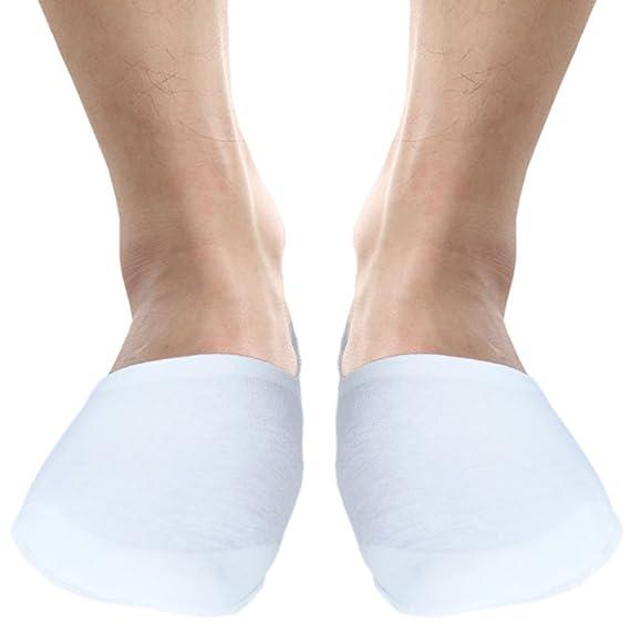 Unisexo forro de entrenador sin costuras calcetines invisibles para pies sensibles wSp52b3W
