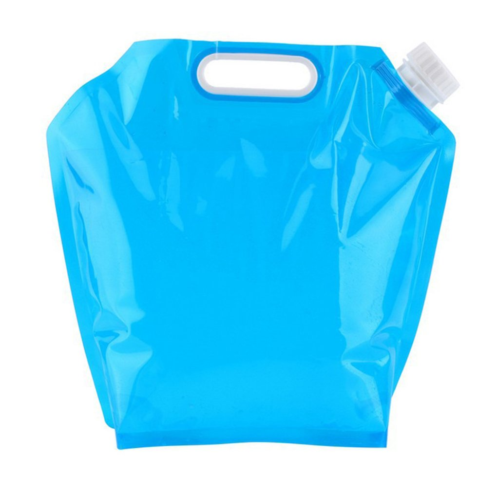 Morza 5L Outdoor Foldable Drinking Water Bag Collapsible Car Water Carrier Container Bag Fits Camping Hiking Picnic BBQ