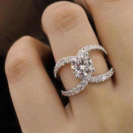 Amazon Com Sinwo Women New Design White Diamond Ring Jewelry