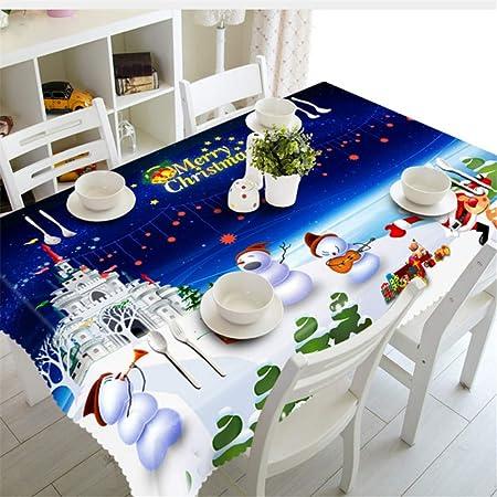 Shuangklei Año Navidad Mantel Cocina Mesa De Comedor Cubierta De Mesa Decoraciones Fiesta En Casa Cubiertas De Mesa Adornos -90X150Cm: Amazon.es: Hogar