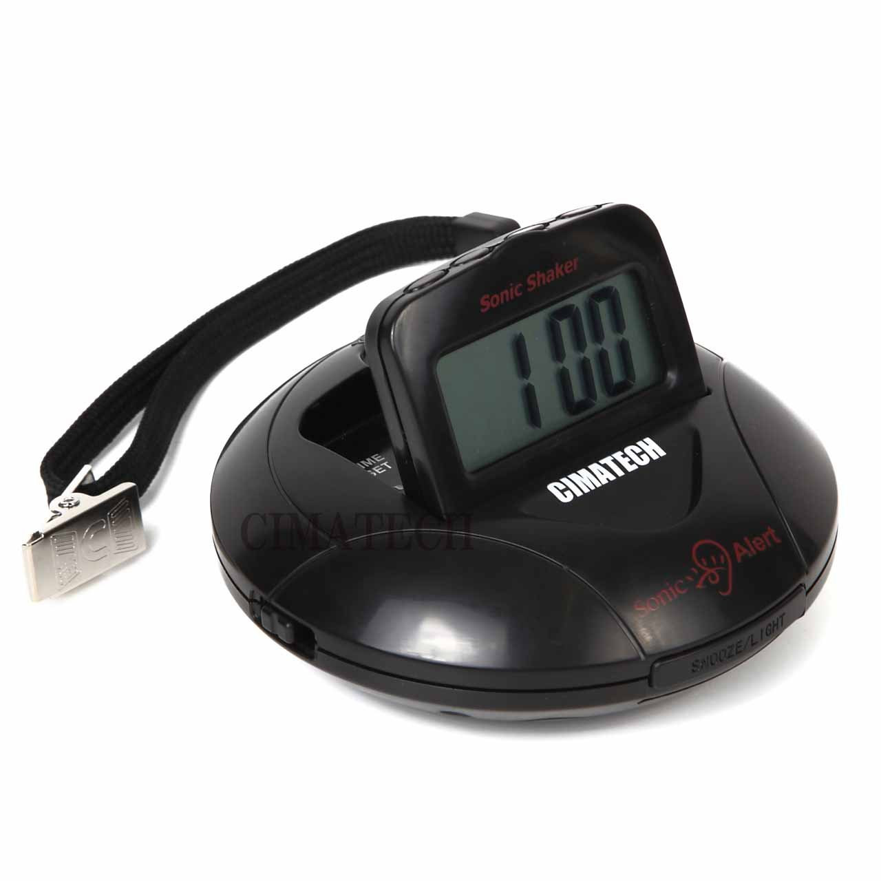 CIMATECH 強力 振動式 目覚まし時計 携帯型 ポータブル ソニックシェーカー (Black 黒) B0739QN7S5 Black 黒 Black 黒
