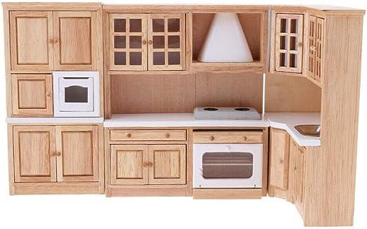 Mini Diy 1 12 Dollhouse Wood Furniture Cabinet Cupboard Wooden Kitchen Closet Dollhouse Miniatures Doll Room