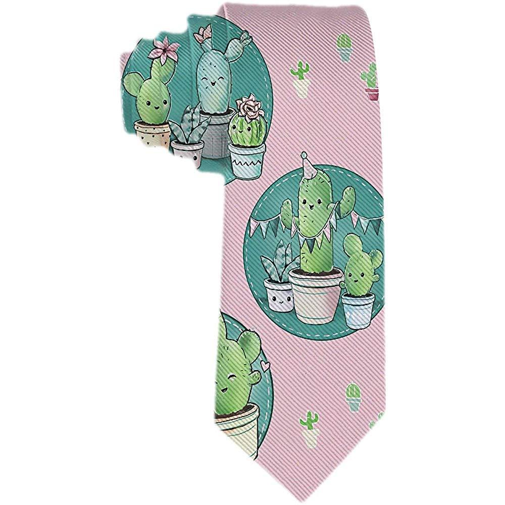 Corbata de los hombres de dibujos animados Cute Cactus en maceta ...