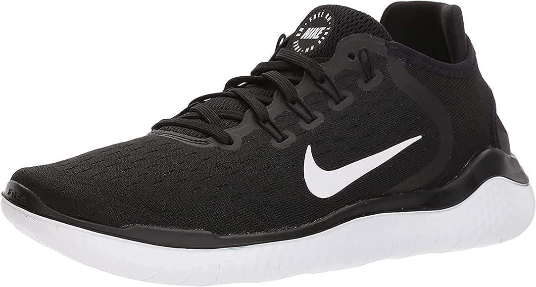 Nike Free Rn 2018, Zapatillas de Running para Mujer, Negro (Black/White 001), 36 EU: Amazon.es: Zapatos y complementos