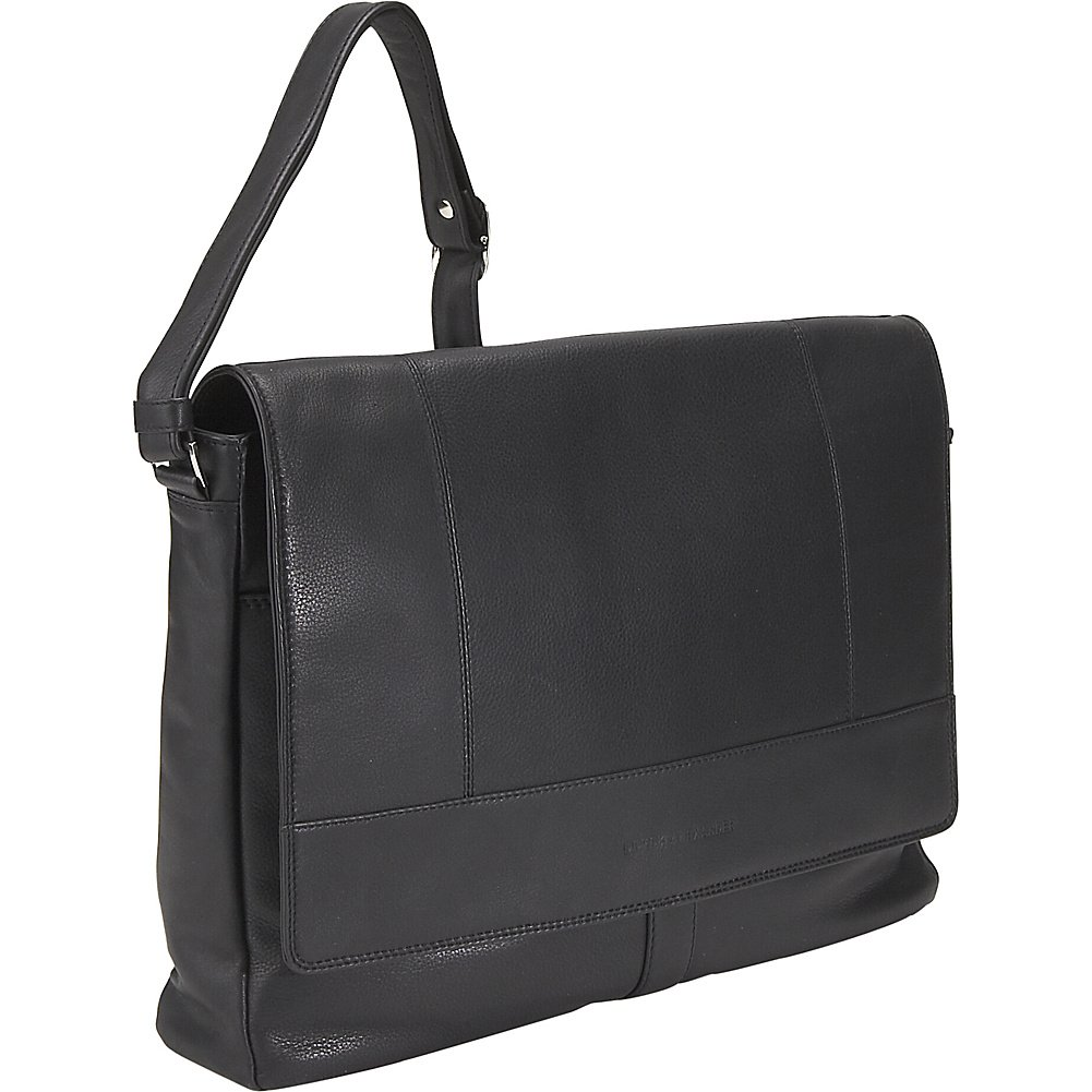 Derek Alexander Leather Half Flap Multi Pocket Business Case - Black by Derek Alexander Leather