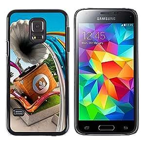 Be Good Phone Accessory // Dura Cáscara cubierta Protectora Caso Carcasa Funda de Protección para Samsung Galaxy S5 Mini, SM-G800, NOT S5 REGULAR! // Gramophone Abstract Lines