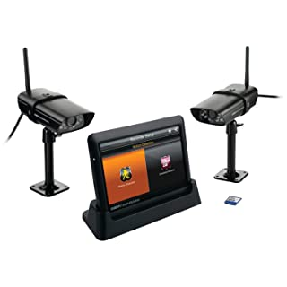 Uniden Guardian Advanced Wireless 7-Inch Screen Video Surveillance System with 2 Outdoor Cameras - Black (G755)