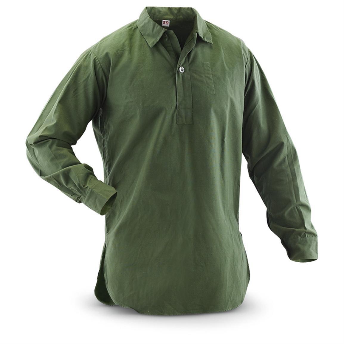 ou Tie Dye Noir v/éritable su/édois Grandad chemises Finition unique