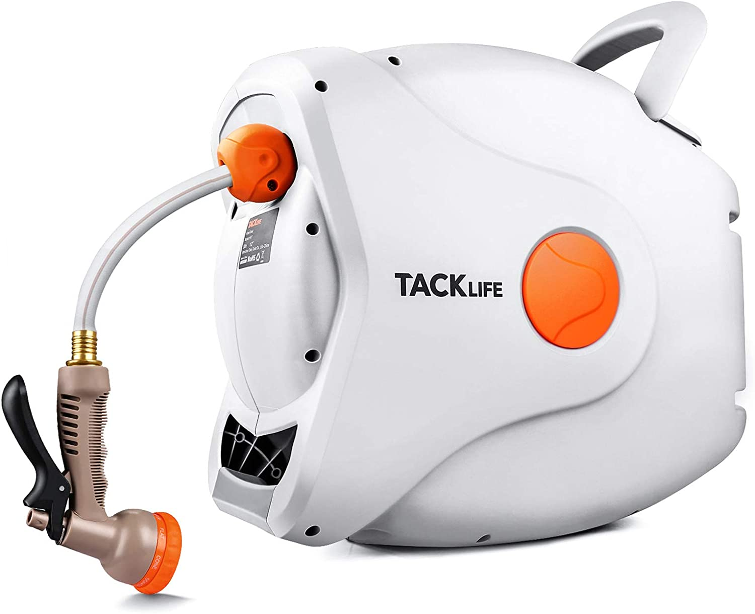 TACKLIFE Retractable Garden Hose Reel,1/2
