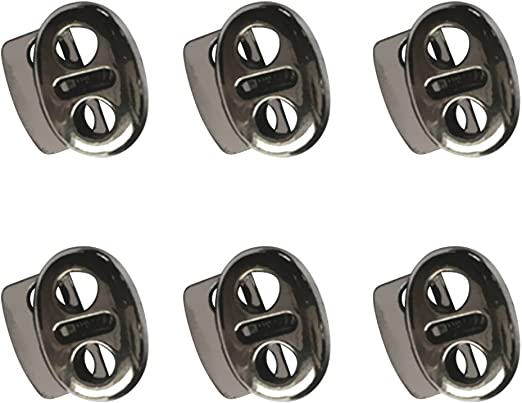 12 Stück Metall Stopper Toggle Rope Clamp Cord Locks Verschluss Schnalle
