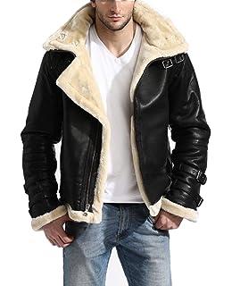 B3 Aviator Pilot White Fur Shearling Bomber Black Leather Jacket | Removable Hood