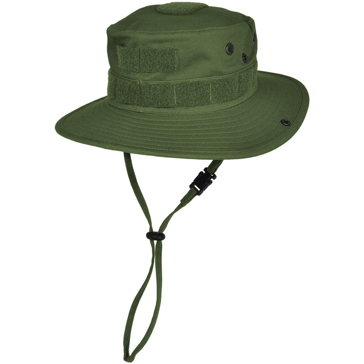 HAZARD 4 SunTac Cotton Boonie Hat with Molle, OD Green, Regular by HAZARD 4