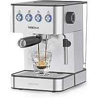 PRIXTON Verona - Koffieautomaat met 20 Bars, Vermogen 850 W, Roestvrij staal