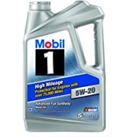 Mobil 1 5W-20 5 Quart High Mileage Advanced Full Synthetic Motor Oil