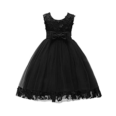 Girls' Clothing (sizes 4 & Up) Dresses Justice For Girls Size 14 Black Sequin Layered Ruffles Dress Non-Ironing