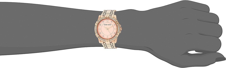 Anne Klein Women's Swarovski Crystal Accented Bracelet Watch Rose Gold