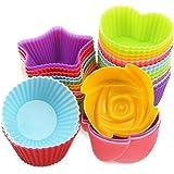 DRFUNDA pirottini colorati in silicone per Muffin Cupcake Torte Forno Decorazione Baking Cup