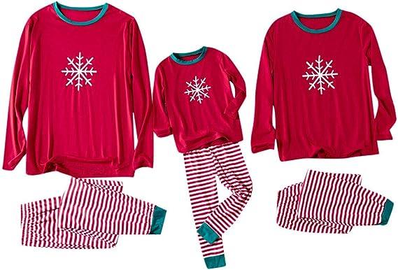 Winsummer Family Matching Xmas Pajamas Outfits Set Women Kid Adult PJs Sleepwear Nightwear Cotton Tops+Pants