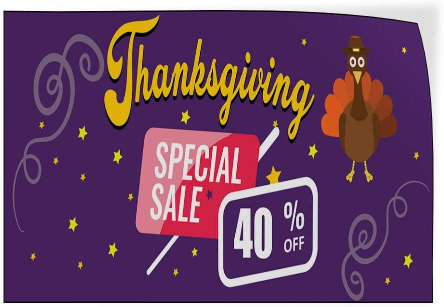 Custom Door Decals Vinyl Stickers Multiple Sizes Thanksgiving Special Sale Business Sale Outdoor Luggage /& Bumper Stickers for Cars Purple 14X10Inches Set of 10