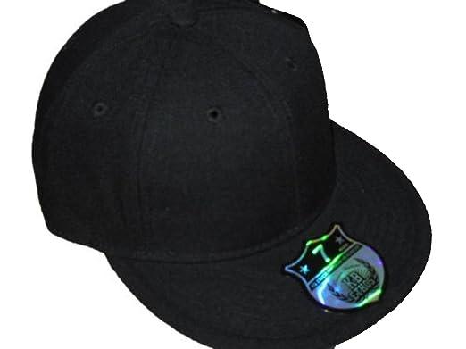 Ethos Plain Black Fitted Cap c7e82bf99ca