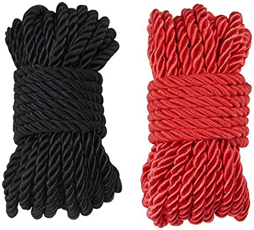 Red, 1//2 Inch x 10 Feet Super Soft 3 Strand Twisted Cotton Rope