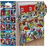 marvel bedding full - Marvel Justice Double/US Full Duvet Cover Set + Free Small Foil Stickers