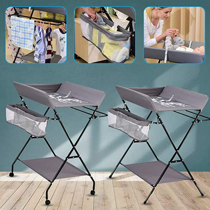 3 compartiments table /à langer 80 x 63 x 96 cm b/éb/é combin/é Table /à langer multifonction 25 kg table /à langer commode /à langer pliable